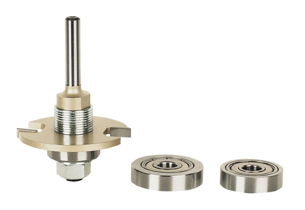 """Erbauer Biscuit Jointing Kit ¼"""" 47mm 4 Pcs"""