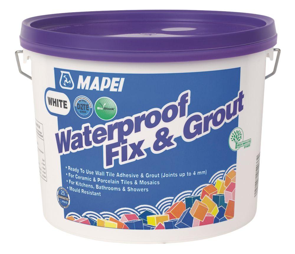 Mapei  Wall Waterproof Fix & Grout White 7.5kg