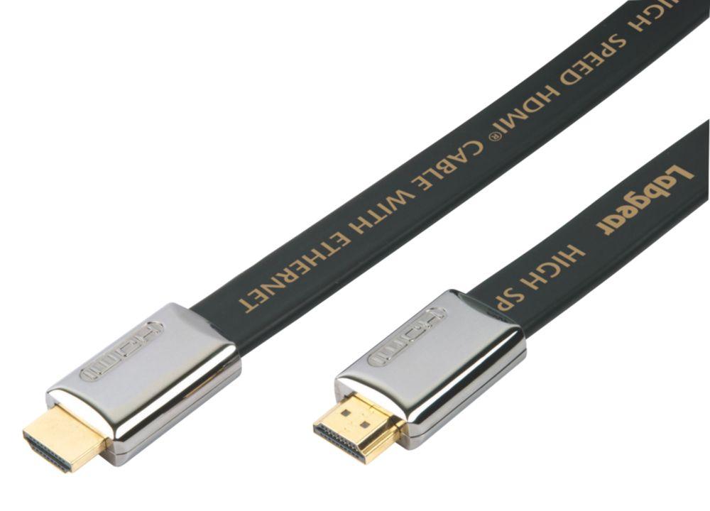 Labgear HDMI Flat Lead 19-Pin Gold 3m