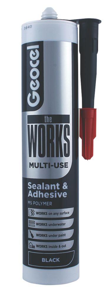 Geocel The Works Sealant & Adhesive Black 290ml