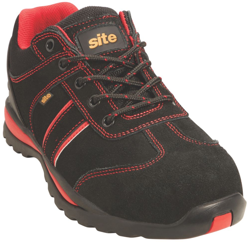 Site Coltan   Safety Trainers Black / Red Size 8