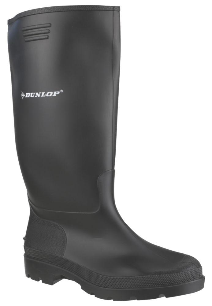 Dunlop Pricemaster 380PP   Non Safety Wellies Black Size 10