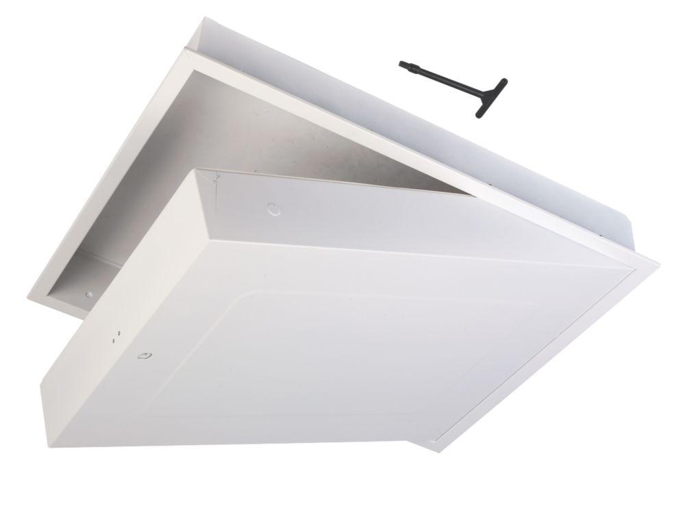 GL280F Fire-Resistant Drop-Down Loft Access Door White 562 x 726mm