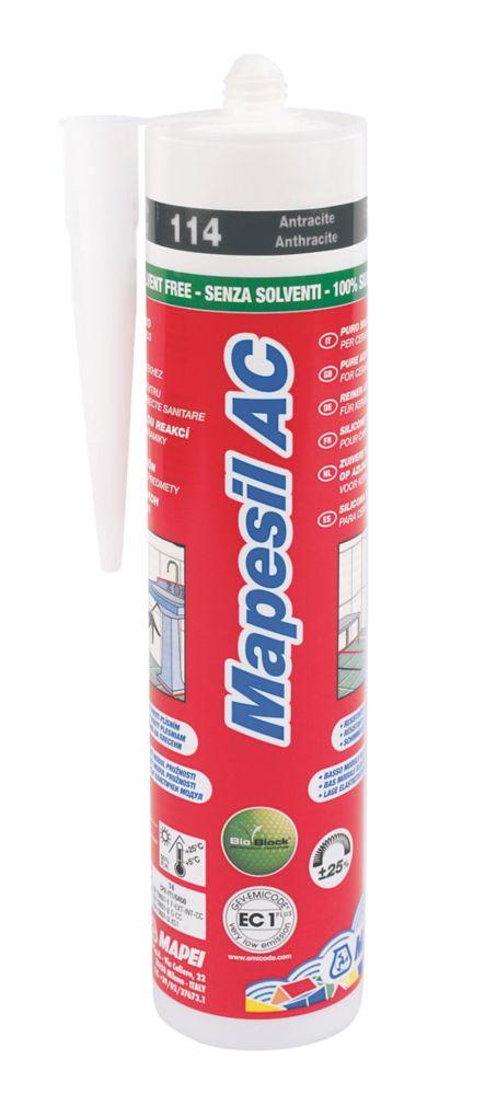 Mapei Mapesil Solvent-Free Silicone Sealant Anthracite 310ml