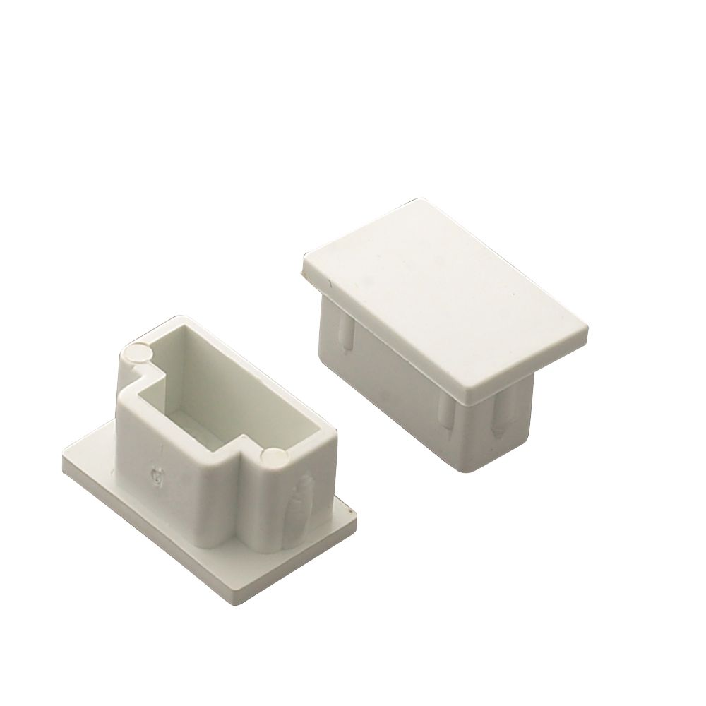 Tower  Mini Trunking End Caps 25 x 16mm 2 Pack