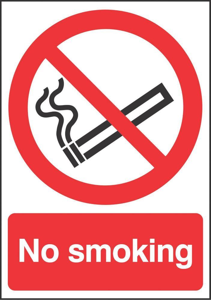 """No Smoking"" Sign 210 x 148mm"