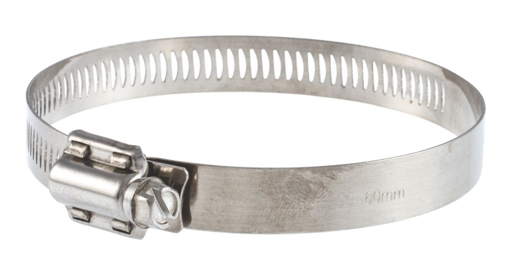 T-mex Stainless Steel Worm Drive Hose Clips 40-80mm 10 Pack