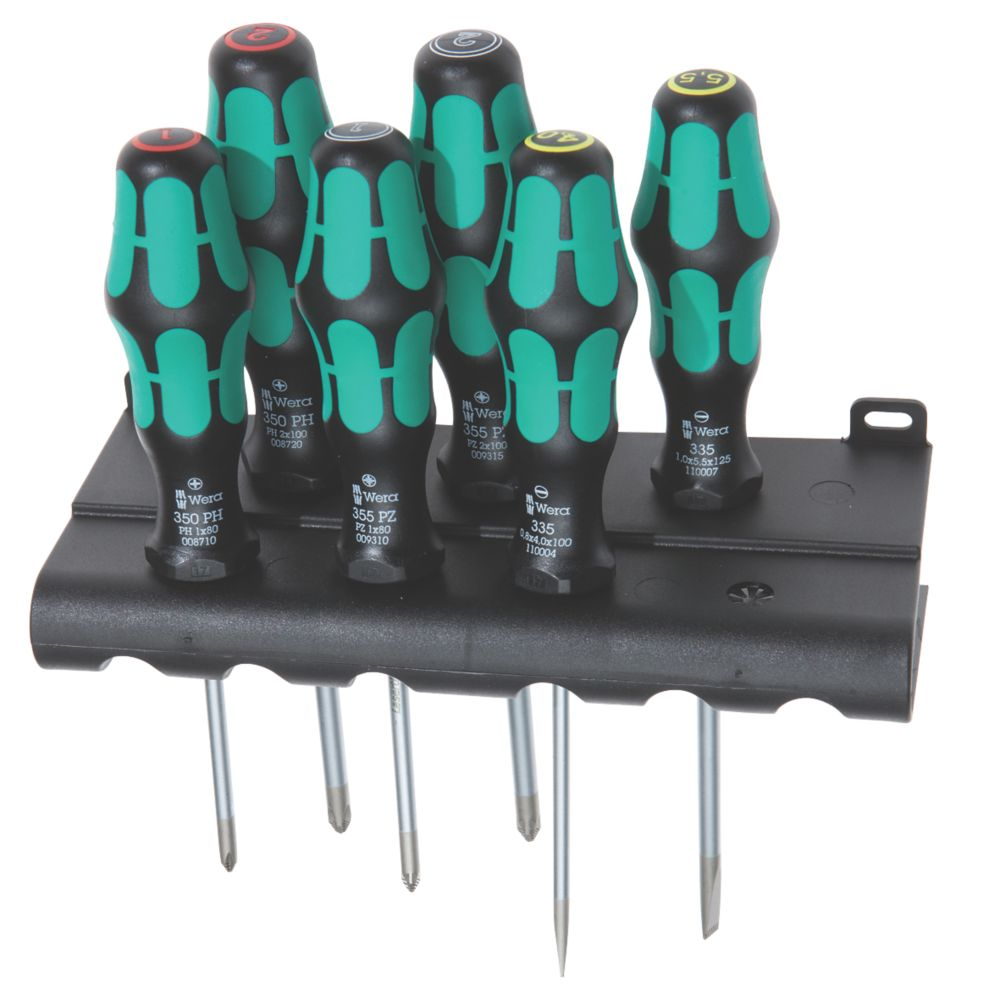 Wera Kraftform Plus Mixed  Lasertip Screwdriver Set 6 Pieces