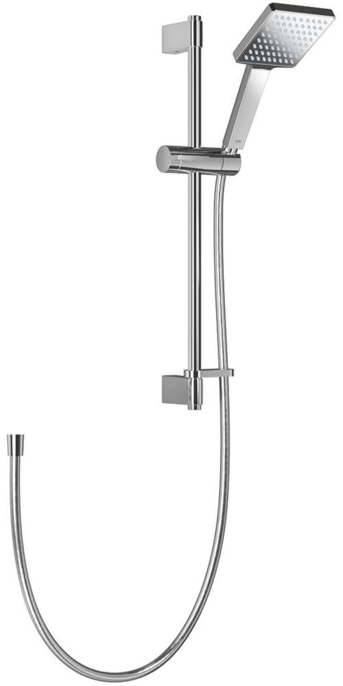 Mira Honesty Shower Kit Contemporary Square Design Chrome