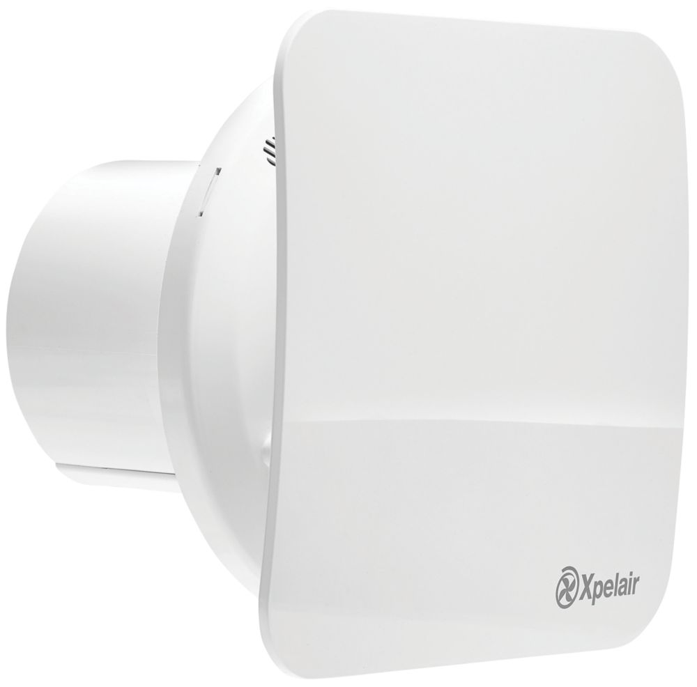 Xpelair CV4SR 2.9W Bathroom or Kitchen Extractor Fan with Humidistat & Timer White 240V