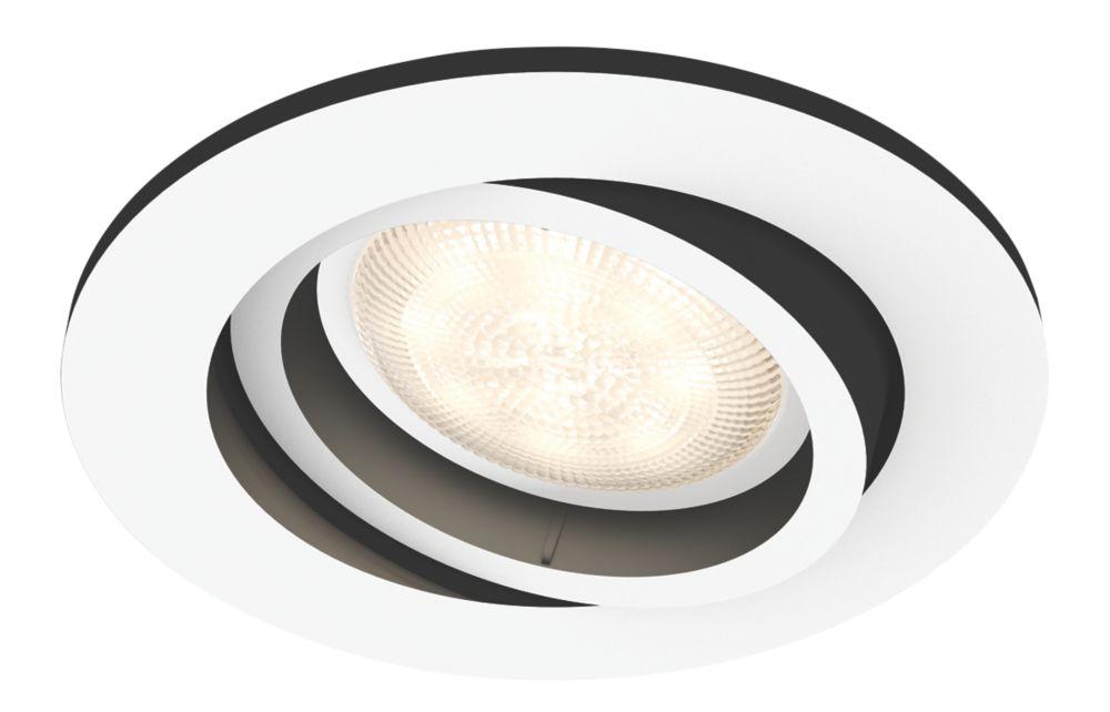 Philips Hue Milliskin Adjustable Head GU10 LED Recessed Smart Lighting Downlight White 5.5W 250lm