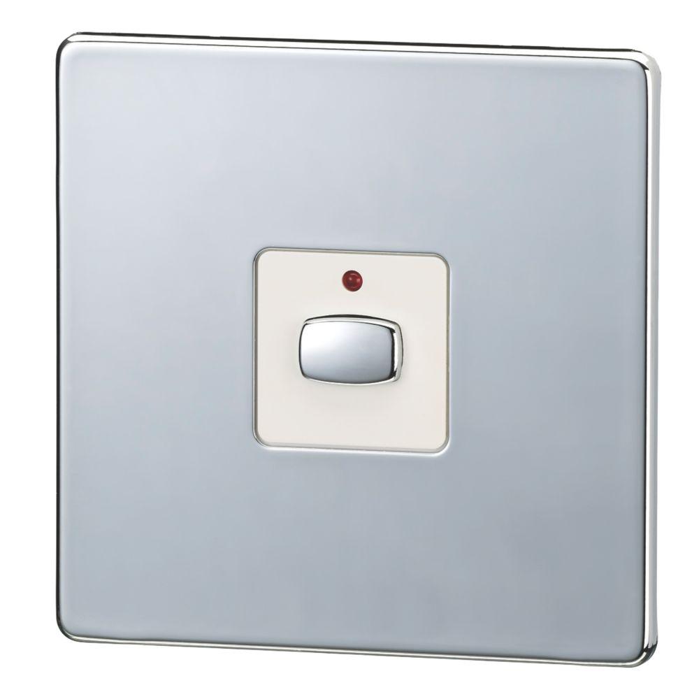 Energenie MiHome 1-Gang 1-Way 2A Light Switch Polished Chrome
