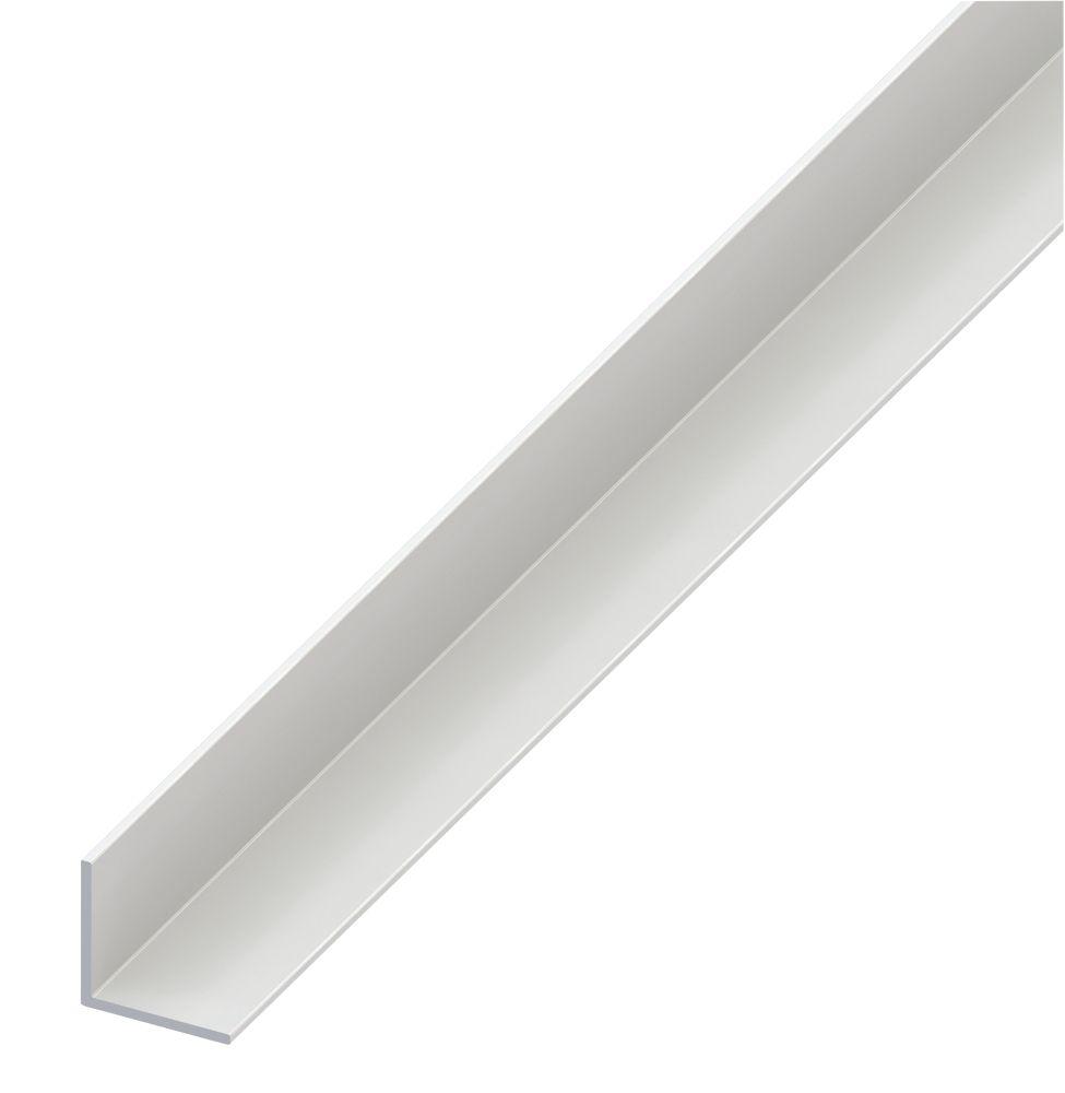 Alfer White PVC Equal-Sided Angle 1000 x 30 x 30mm