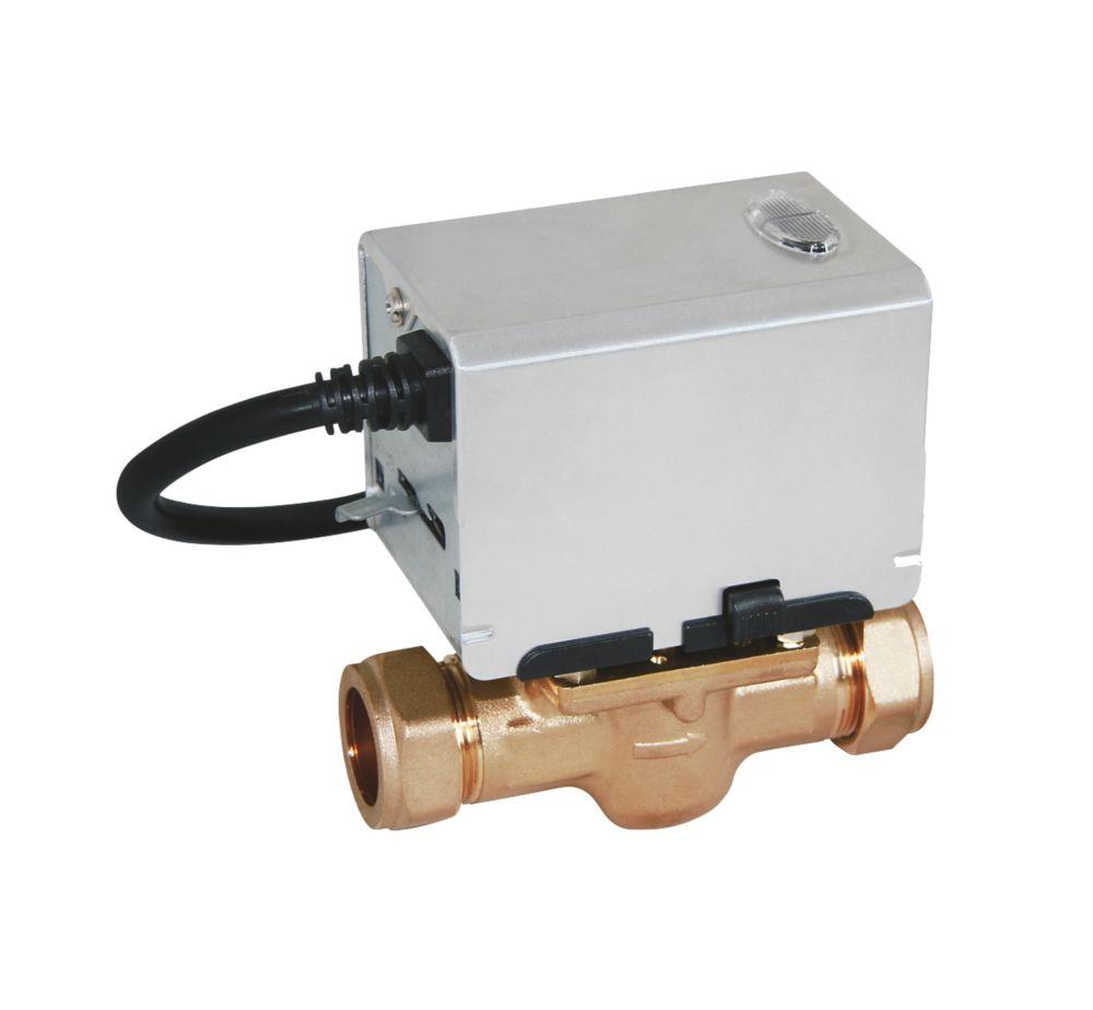 Strom SSZV2222 2-Port Motorised Valve 22mm 22mm Compression