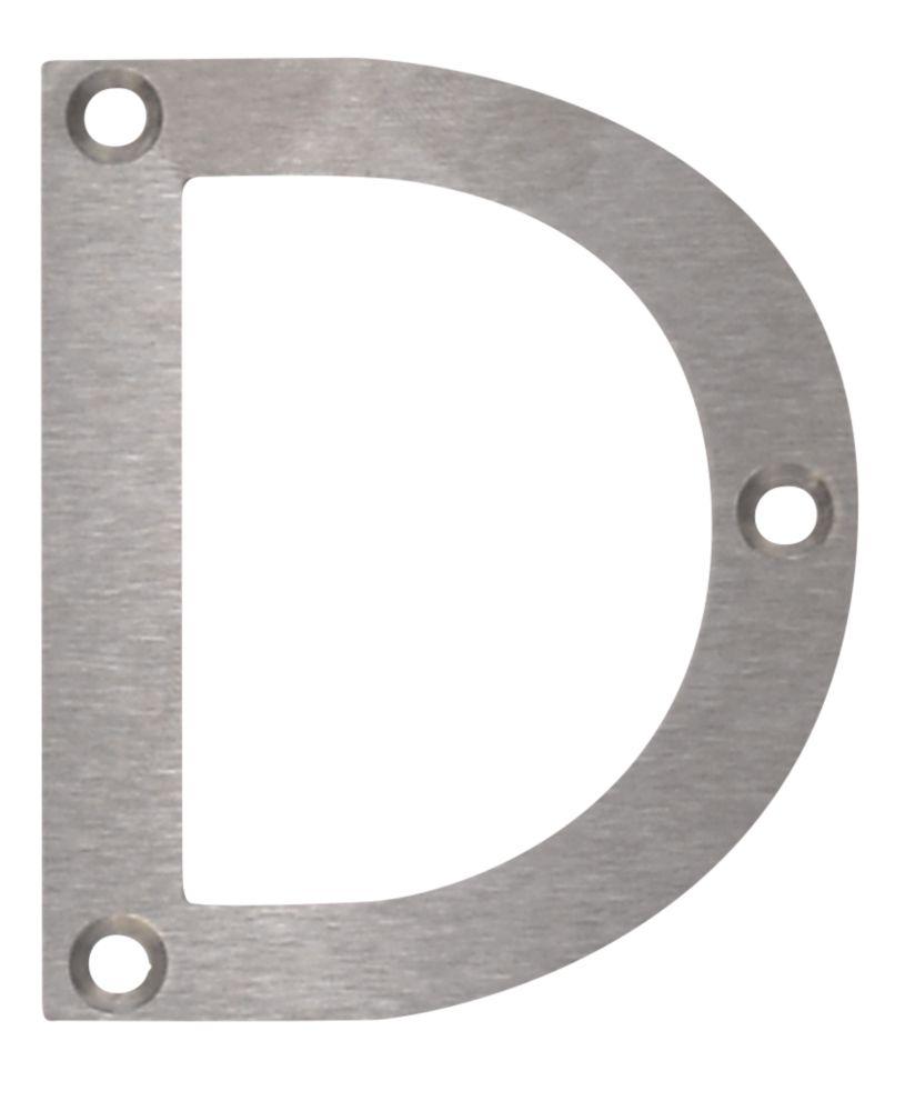 Fab & Fix Door Letter D Satin Stainless Steel 78mm