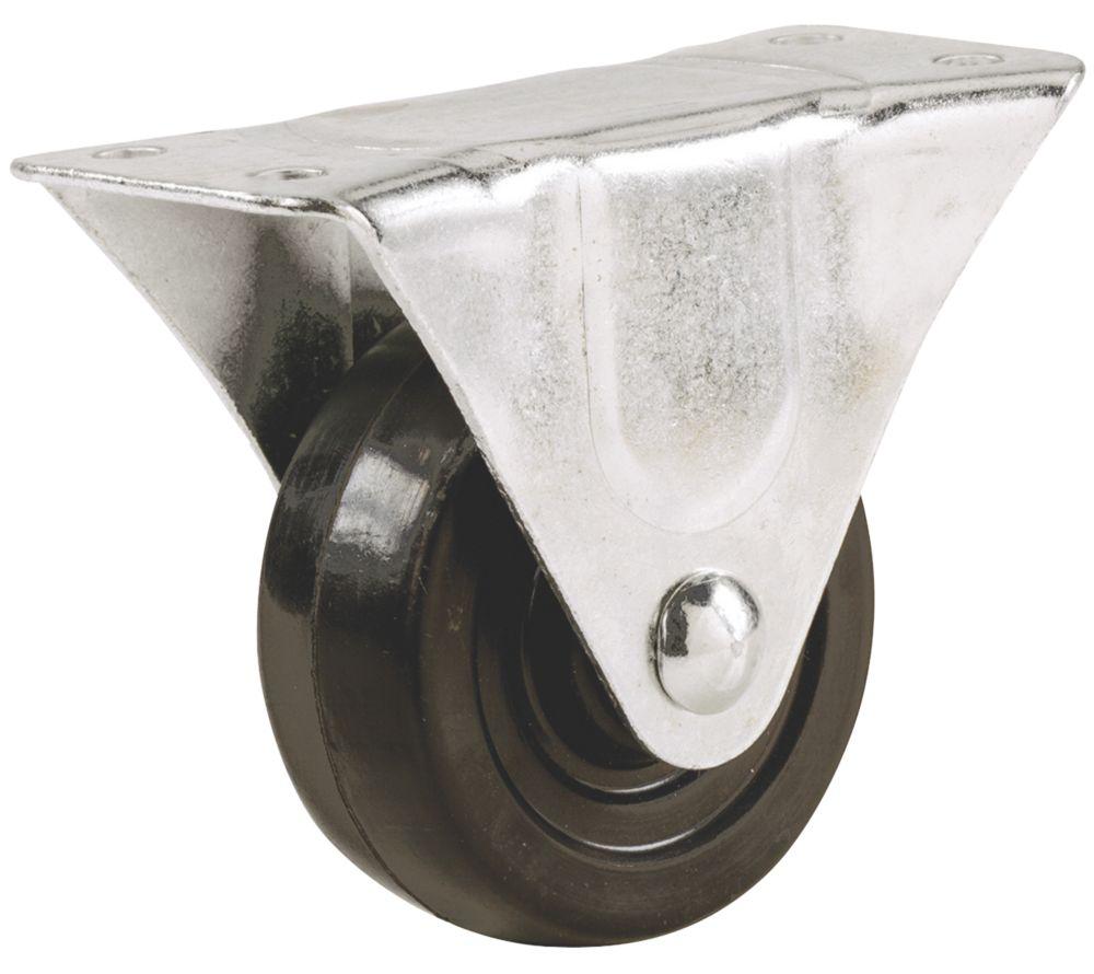 Select Heavy Duty Fixed Rubber Wheel 40mm