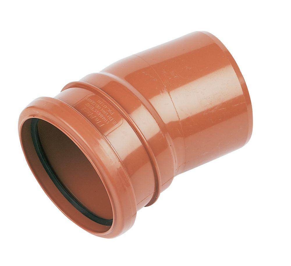 FloPlast Single Socket Bend 15° 110mm
