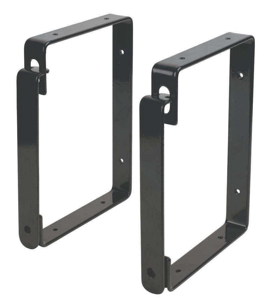Smith & Locke Ladder Storage Brackets Black 190mm 2 Pack