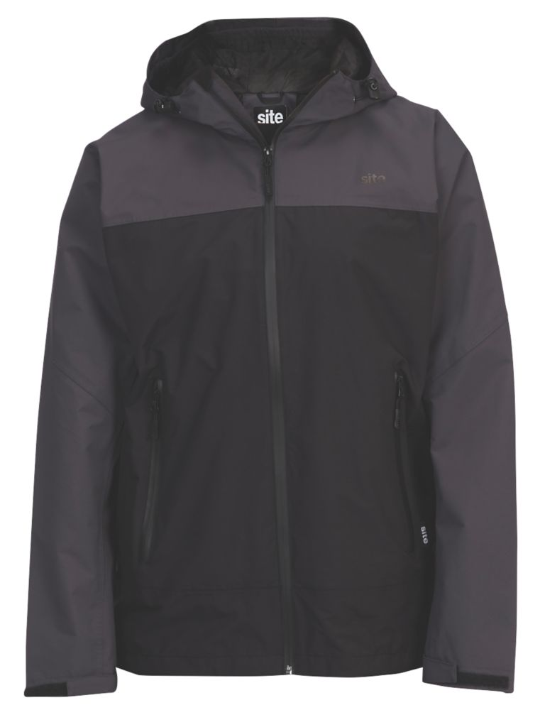 "Site Ninebark Waterproof Jacket Grey / Black Large 40"" Chest"
