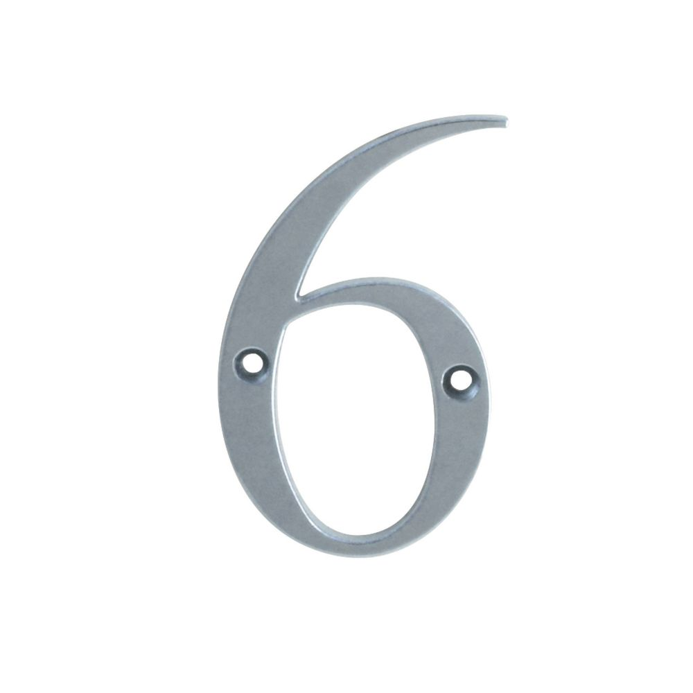Fab & Fix Door Numeral 6, 9 Polished Chrome 80mm