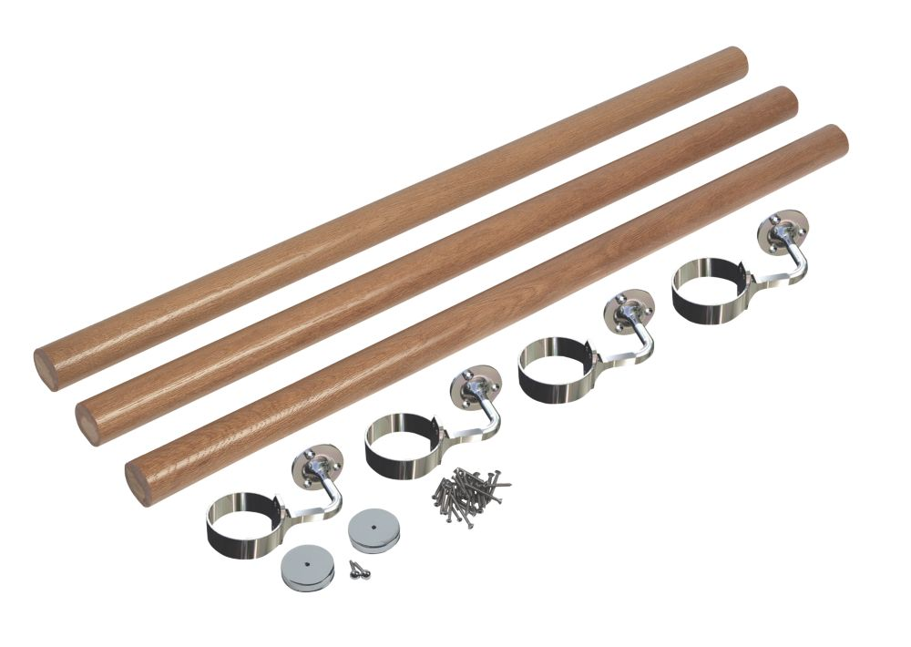 Richard Burbidge  White Oak Round Staircase Handrail Kit  3600mm
