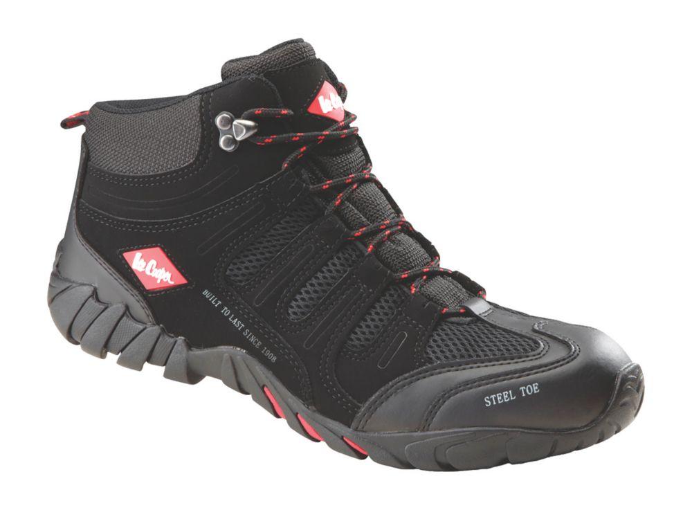 Lee Cooper LCSHOE020C   Safety Trainer Boots Black / Grey Size 9