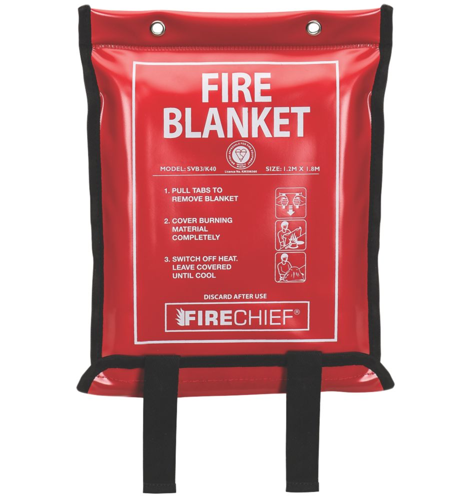Firechief  Fire Blanket with Soft Case 1.2 x 1.8m