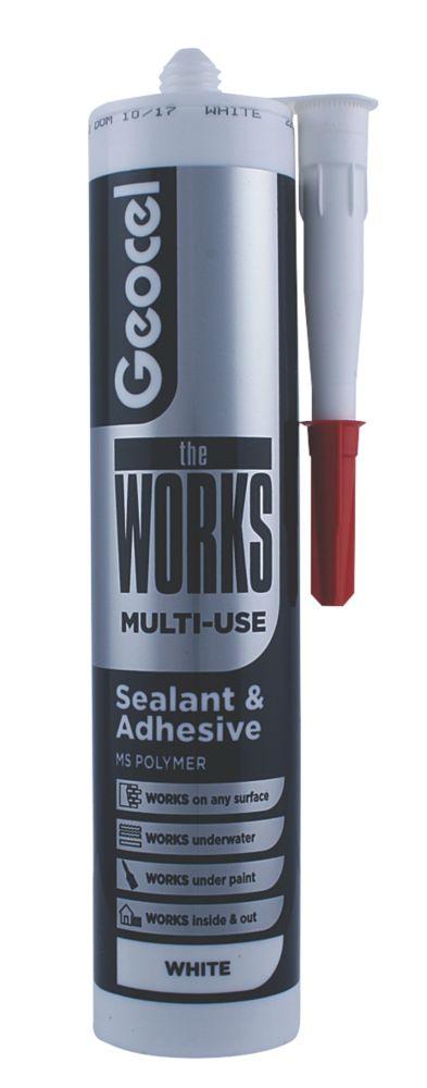 Geocel The Works Sealant & Adhesive White 290ml