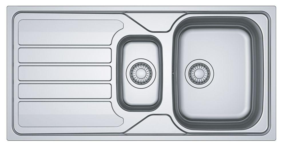 Franke Flash Sink Stainless Steel 1.5 Bowl 1000 x 500mm