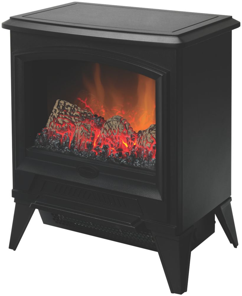 Dimplex Casper Black Electric Stove with Built-In Fan Heater