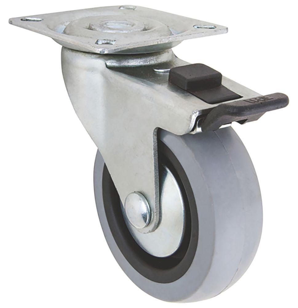 Select TPR Braked Swivel Castor 75mm
