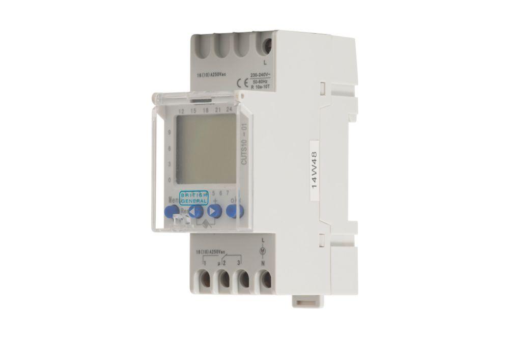 British General Fortress 16A 2-Pole  Digital 1-Channel Consumer Unit Timer Module
