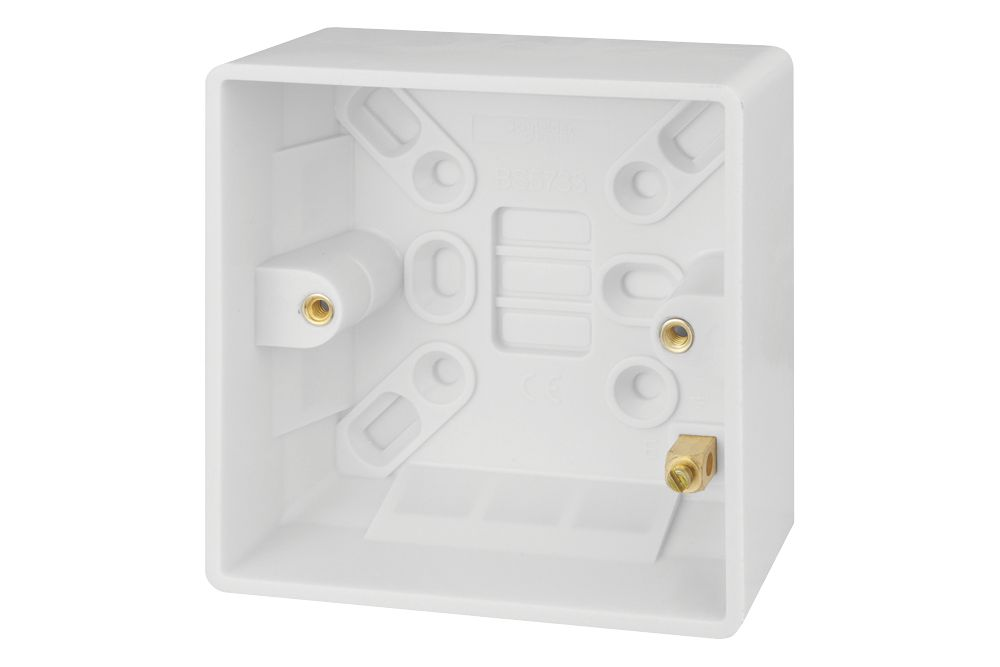 Schneider Electric Ultimate Slimline 1-Gang Surface Pattress Surface Pattress Box 27mm