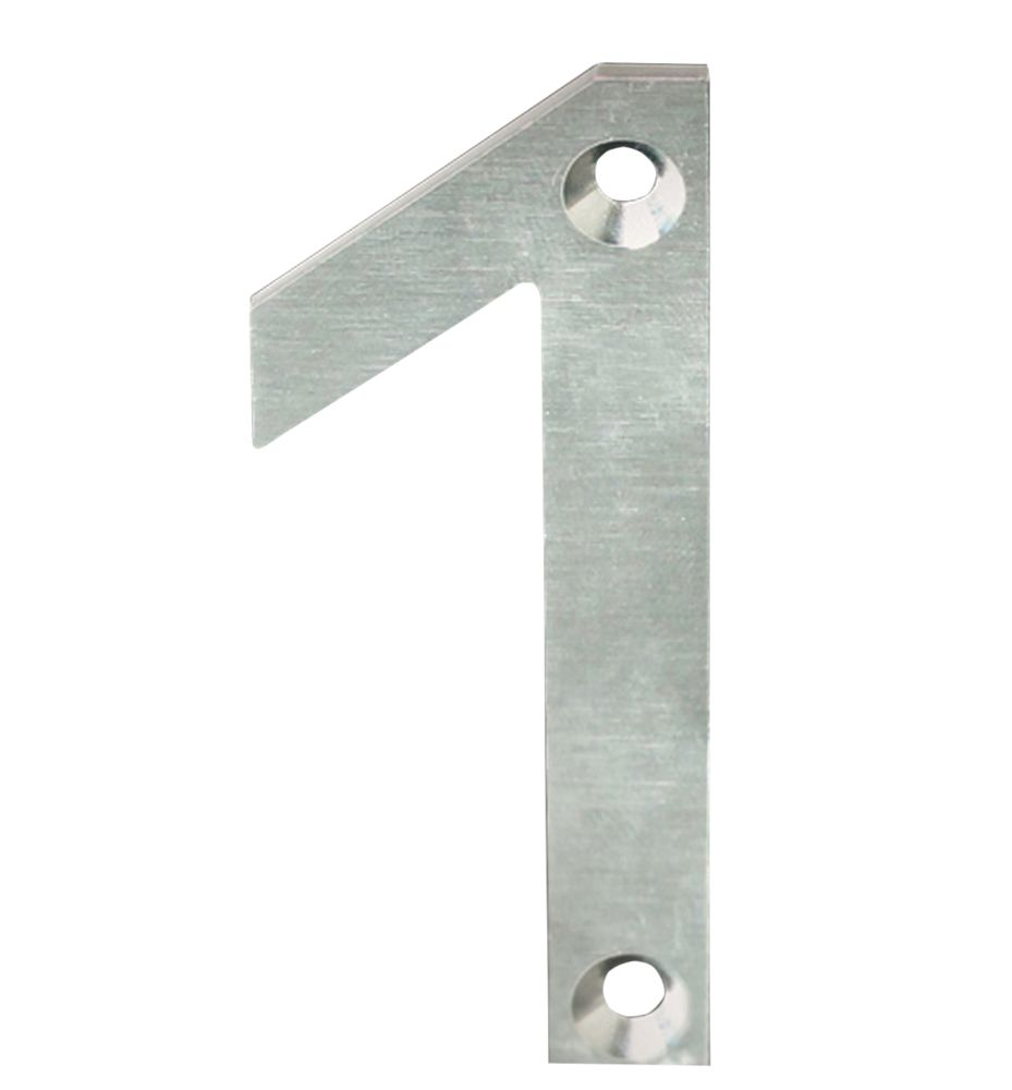 Fab & Fix Door Numeral 1 Satin Stainless Steel 78mm