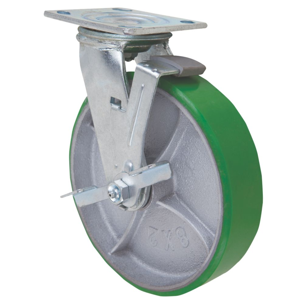 Select Braked Swivel Castor 200mm
