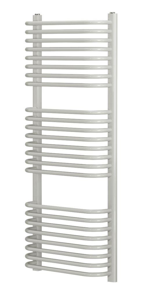 Blyss CAP22GC041 Curved D-Bar Towel Radiatorr 1200 x 500mm White 2329BTU