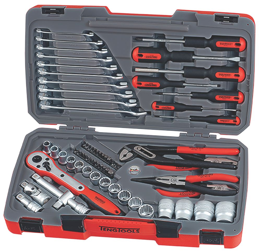 "Teng Tools  ½"" Drive Socket & Tool Set 68 Pieces"