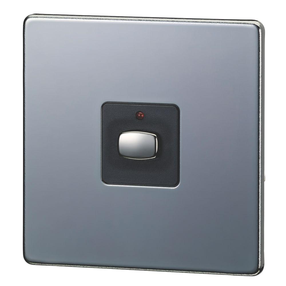 Energenie MiHome 1-Gang 1-Way  Light Switch Black Nickel