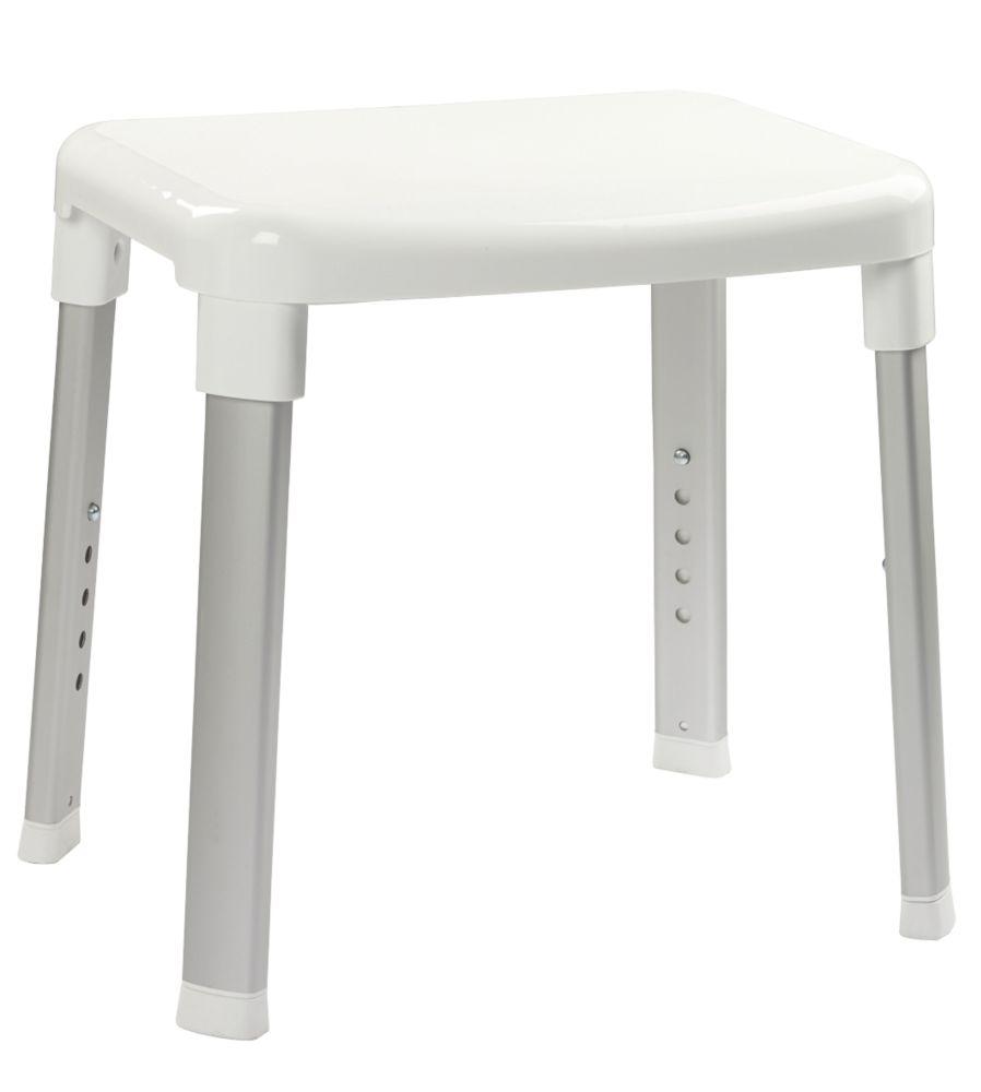 Croydex Freestanding Adjustable Shower Stool White