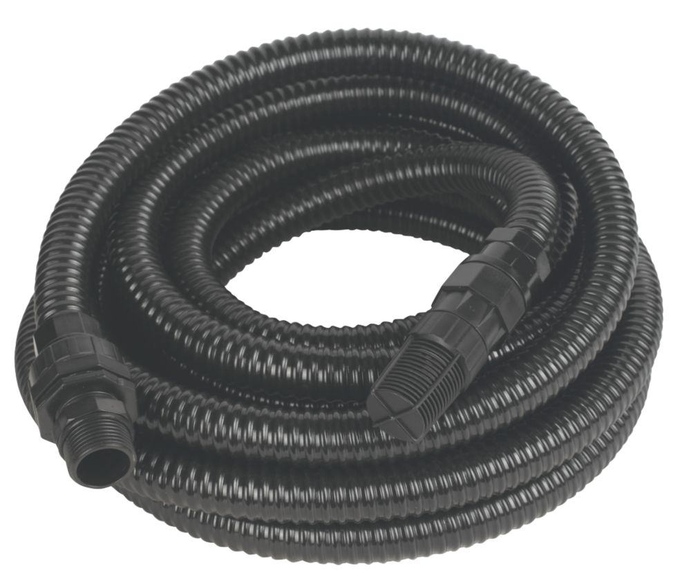 """Reinforced Delivery Hose with Filter (24mm) Black 7m x 0.8"""""""