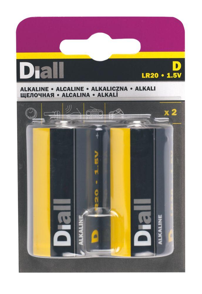 Diall  D Batteries 2 Pack