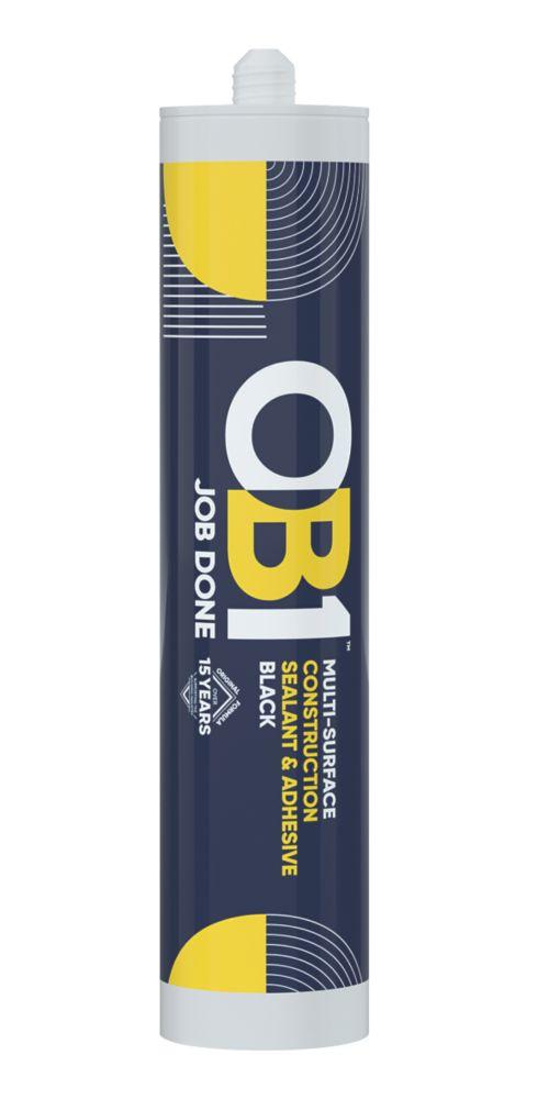 OB1  Multi-Purpose Sealant & Adhesive Black 290ml
