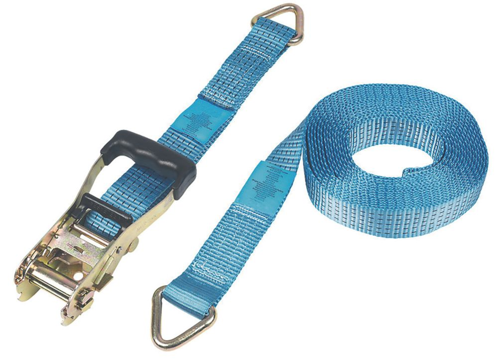 Ratchet Strap with D-Ring 8m x 50mm