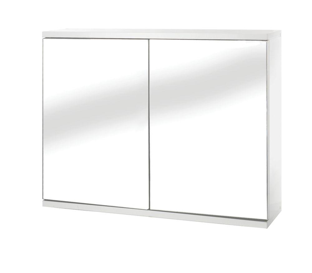 Croydex  Double-Door Bathroom Cabinet White  600 x 140 x 450mm