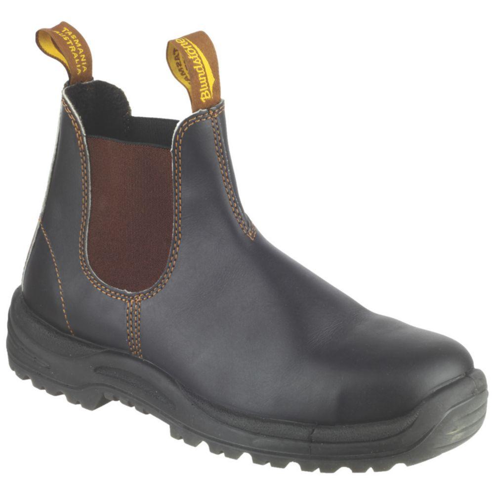 Blundstone 192   Safety Dealer Boots Brown Size 8