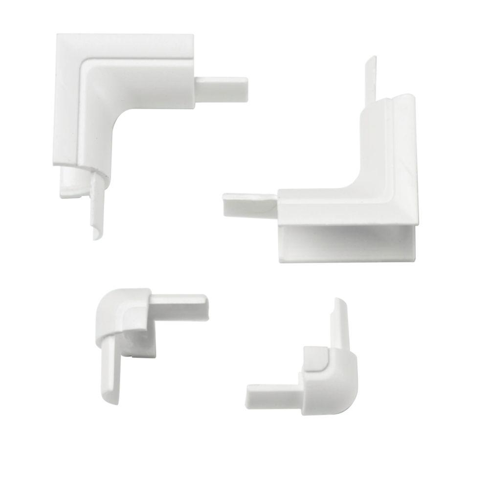 D-Line Micro Internal & External Trunking Bend Pack 16 x 8mm 4 Pcs