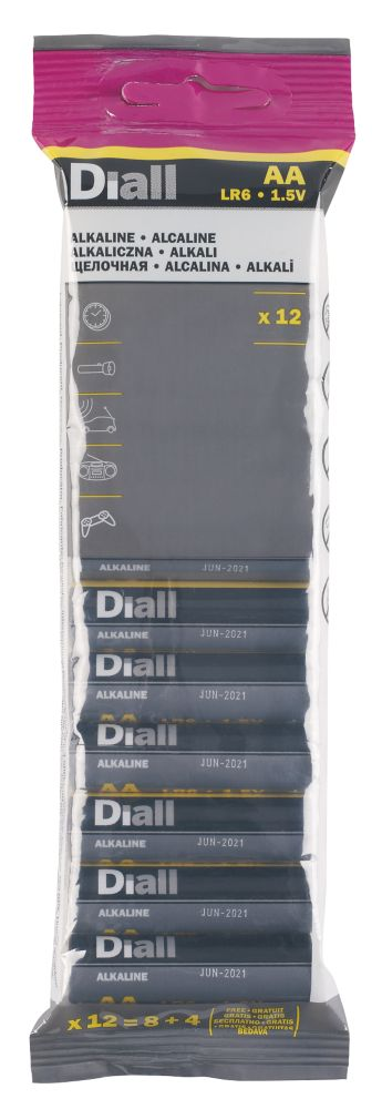 Diall  AA Batteries 12 Pack