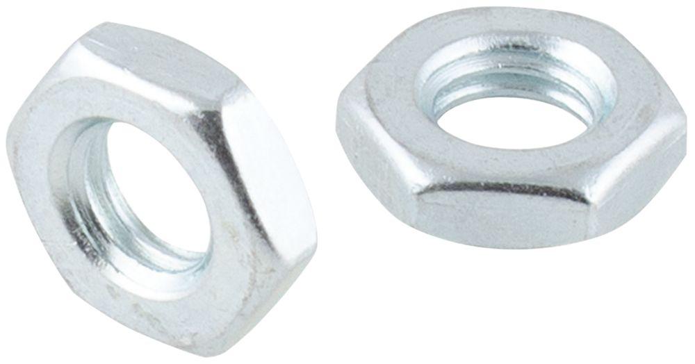 Easyfix Carbon Steel Hex Flat Nuts M10 100 Pack
