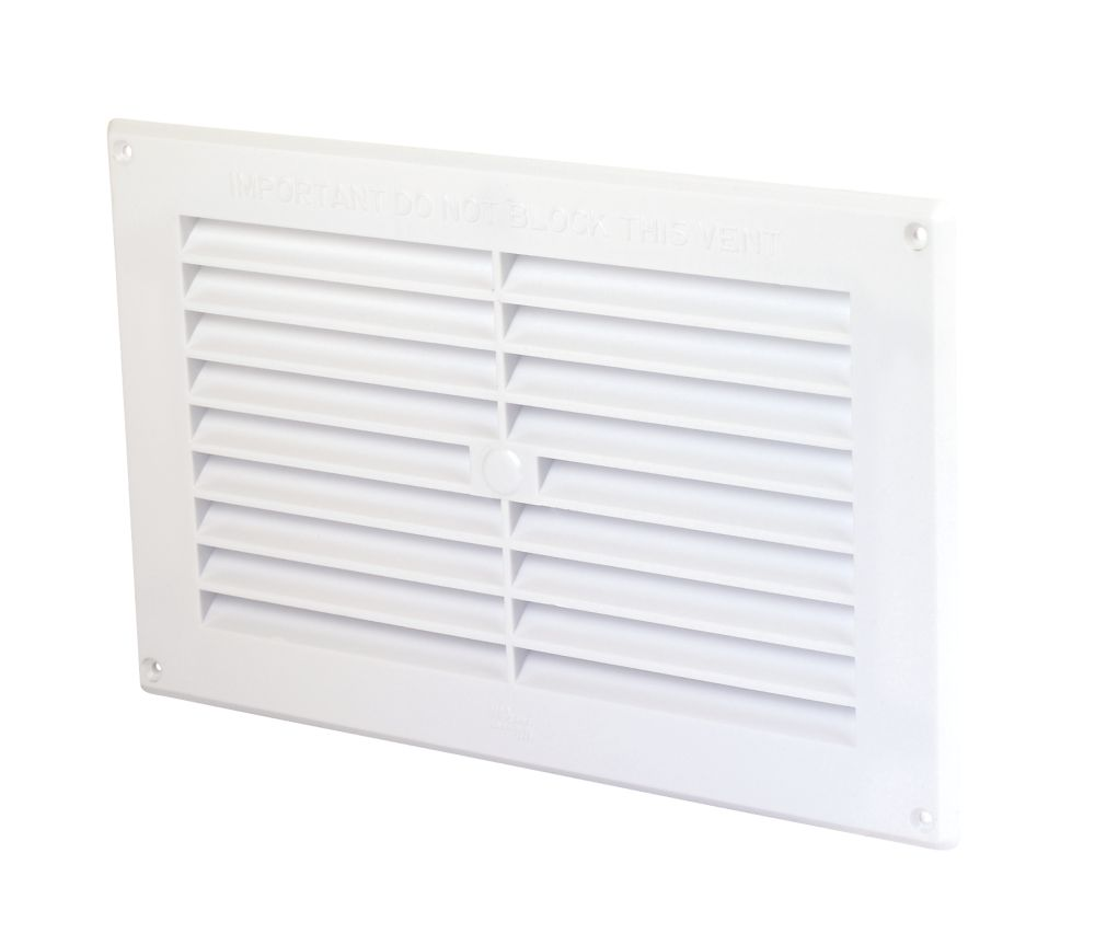 Map Vent Fixed Louvre Vent White 229 x 152mm