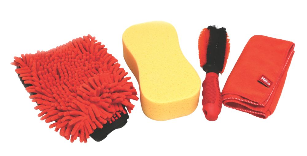 Hilka Pro-Craft Car Cleaning Washing Set  4 Piece Set